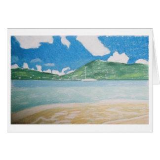 sailboat & seascape greeting card