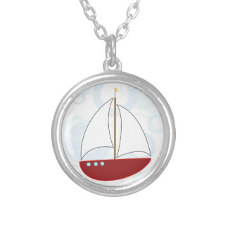 Sailboat Sensation Silver Plated Necklace