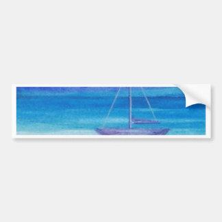 Sailboat Serenity CricketDiane Art Bumper Stickers