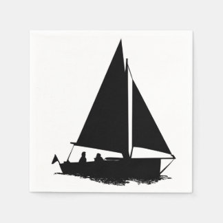 Sailboat Silhouette Standard Cocktail Napkin