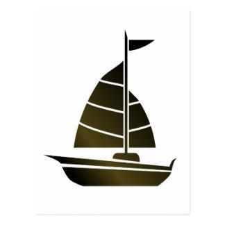 Sailboat Silhouette Postcard
