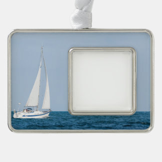 Sailboat Silver Plated Framed Ornament