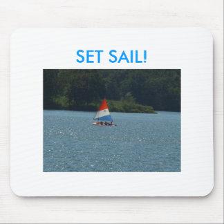 Sailboat & Sparkling Water, SET SAIL! Mouse Pad