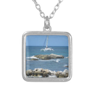 Sailboat St. Maarten Silver Plated Necklace