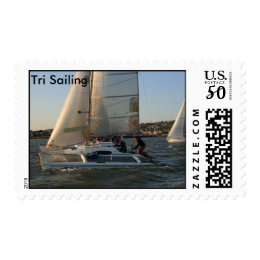 Sailboat Start Trimaran Postage