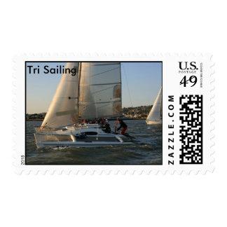 Sailboat Start Trimaran Stamps