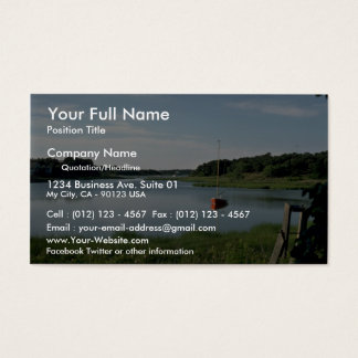 Sailboat, Stepstone Creek, Cape Cod, Massachusetts Business Card