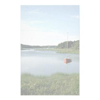 Sailboat, Stepstone Creek, Cape Cod, Massachusetts Stationery Paper