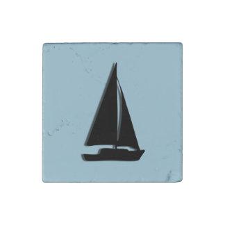 Sailboat Stone Magnet
