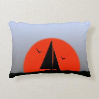 Sailboat Sunset Accent Pillow