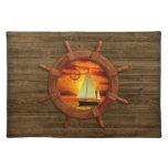 Sailboat Sunset Cloth Placemat