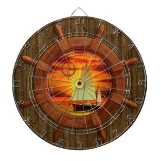 Sailboat Sunset Dartboard