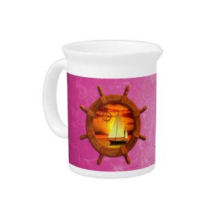 Sailboat Sunset Drink Pitchers