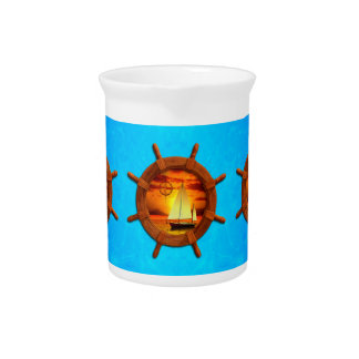 Sailboat Sunset Drink Pitchers