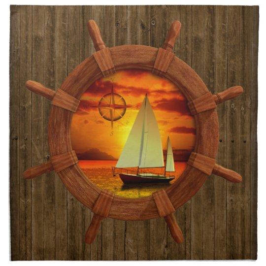 Sailboat Sunset Napkin