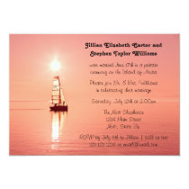 Sailboat Sunset Photo - Wedding Announcement
