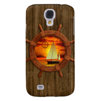 Sailboat Sunset Samsung Galaxy S4 Cover