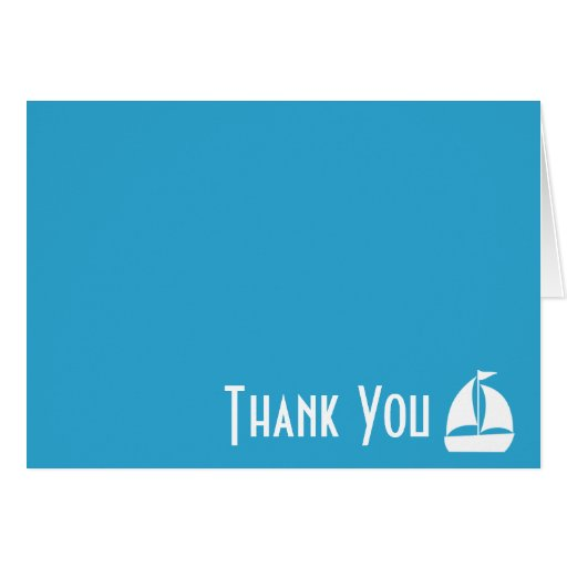Sailboat Thank You Note Cards (Light Blue)
