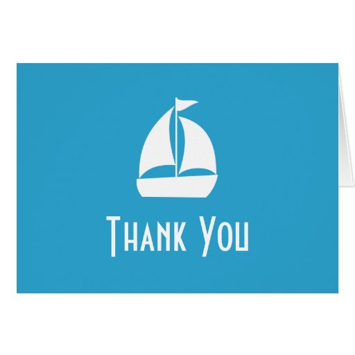 Sailboat Thank You Note Cards (Pale Blue)