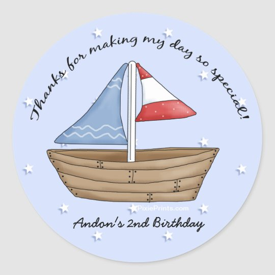 Sailboat Thank You Sticker