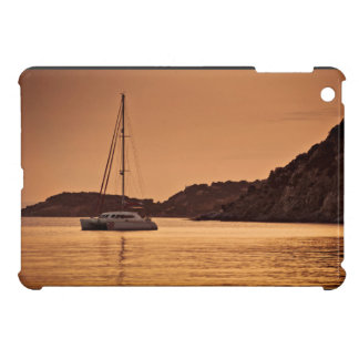 Sailboat Themed, A Boat Approaches The Shore Of Ro iPad Mini Cover