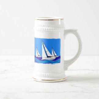 Sailboat Trio Beer Stein
