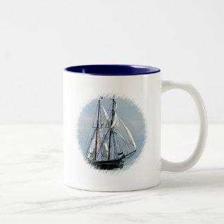 Sailboat Two-Tone Coffee Mug