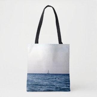 Sailboat View Of The Ocean Tote Bag