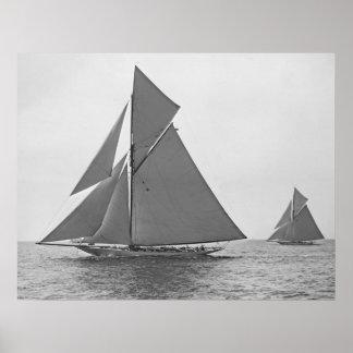 Sailboat Vigilant 1893 Poster