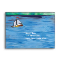 Sailboat Watercolor Themed V2 Envelope