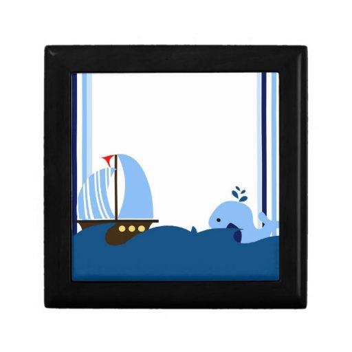 Sailboat & Whale Gift Box