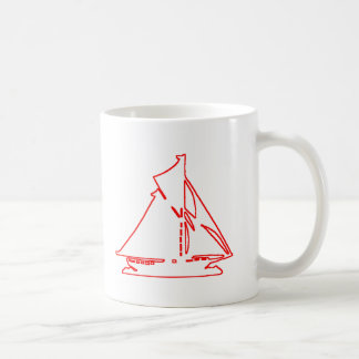 Sailboat White-Red transp Vero Beach The MUSEUM Za Coffee Mug