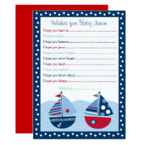 Sailboat Wishes for Baby Card