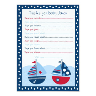 Sailboat Wishes for Baby Cards