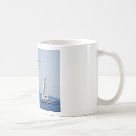 """Sailboat with poem """"Gifts of a Day"""" Coffee Mug"""