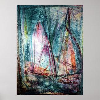 Sailboats 5 poster
