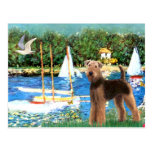 Sailboats - Airedale Terrier (#6) Postcards