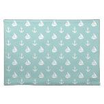 Sailboats and Anchors Pattern Cloth Place Mat