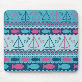 Sailboats and Fish Mouse Pad