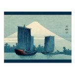 Sailboats and Mount Fuji 2012 Calendar Postcard