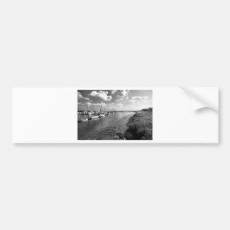 Sailboats and Mussel Beds Jekyl Island Georgia Bumper Sticker