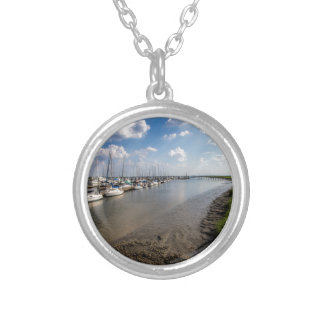 Sailboats and Mussel Beds Jekyl Island Georgia Silver Plated Necklace