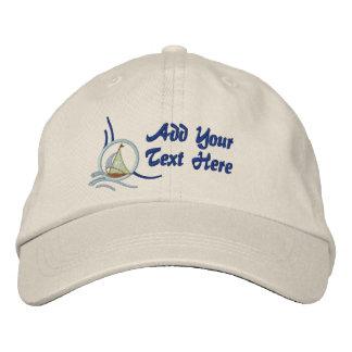 Sailboats and Stars Embroidered Baseball Caps