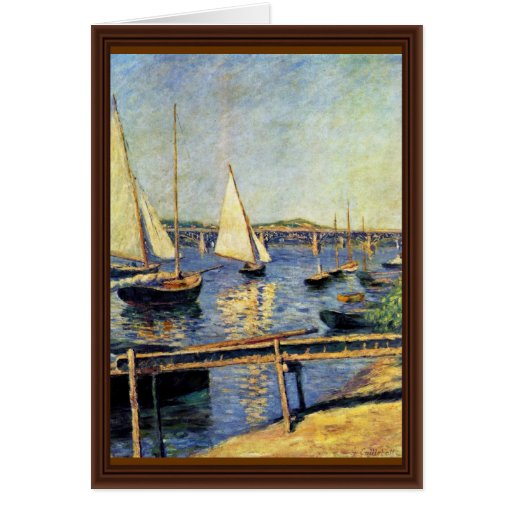 Sailboats At Argenteuil By Caillebotte Gustave Greeting Card
