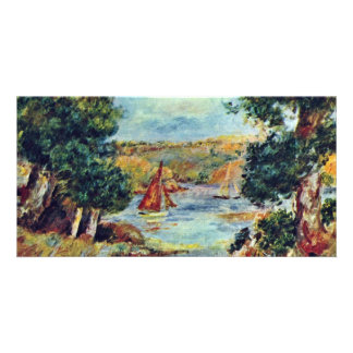 Sailboats At Cagnes By Pierre-Auguste Renoir Customized Photo Card