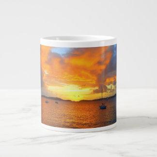Sailboats at Golden Sunset Mug