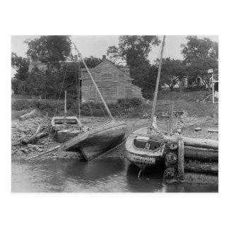 Sailboats at Kittery Point, 1900 Postcard