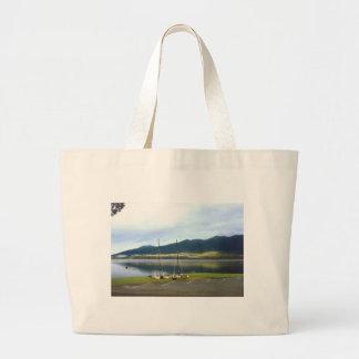 Sailboats at Lake Quinalt WA Photo Art Customize Bags