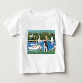 Sailboats - Boston Terrier #@ Baby T-Shirt