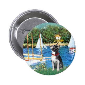 Sailboats - Boston Terrier #@ Button